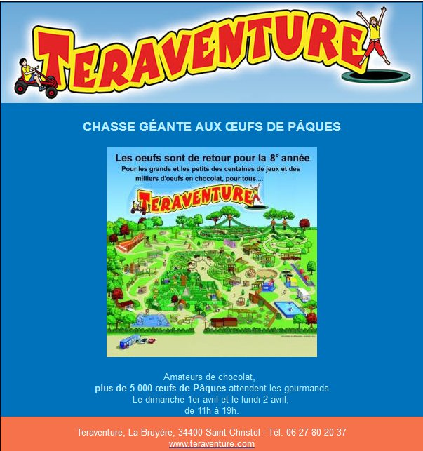 Teraventure chasse oeuf paques 2018